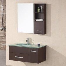 "35"" Single Bathroom Vanity Set with Mirror"