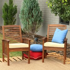 Dining Arm Chair with Cushions (Set of 2)