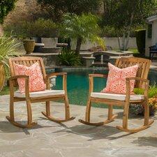 Aegean Acacia Rocking Chair with Cushion (Set of 2)