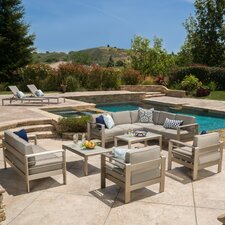 Corinth 10 Piece Deep Seating Group with Cushion