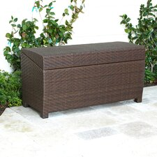 Managua Outdoor 70 Gallon Wicker Deck Box