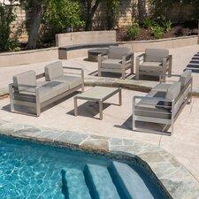 Corinth Aluminum Outdoor 5 Piece Deep Seating Group