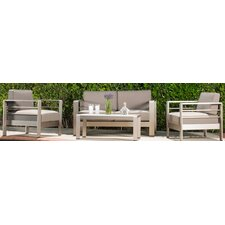 Woolley 4 Piece Deep Seating Group with Cushion