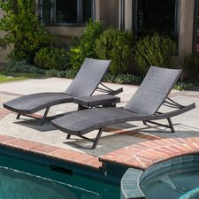 Halulu 3 Piece Chaise Lounge Set