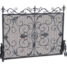 Laurentia Panel Iron Fireplace Screen