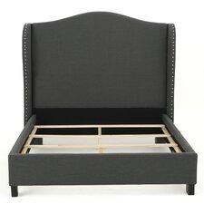 Gegard Dark Grey Upholstered Bed Set