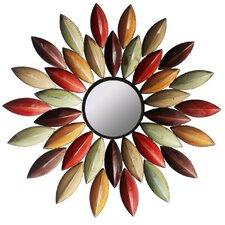 Metallic Petal Wall Mirror
