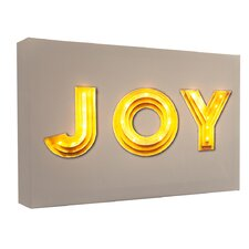 Leinwandbild Joy, Typografische Kunst