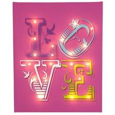Leinwandbild Love, typografische Kunst in Pink