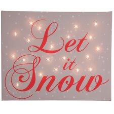 Leinwandbild Let it Snow, typografische Kunst in Braun
