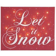 Leinwandbild Let It Snow, Typografische Kunst in Rot