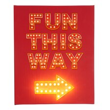 Leinwandbild Fun This Way, Typografische Kunst