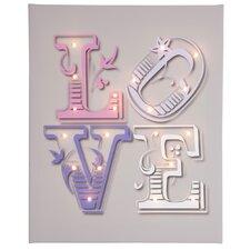 Leinwandbild Love, typografische Kunst in Grau