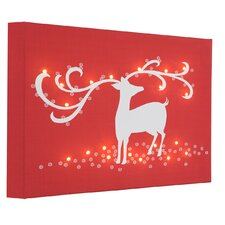 Leinwandbild Reindeer, Grafikdruck