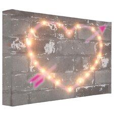 Leinwandbild Graffiti Heart, Grafikdruck