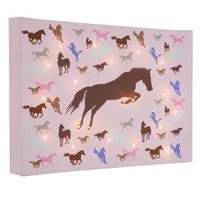 Leinwandbild Horses, Grafikdruck