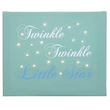 Leinwandbild Twinkle Twinkle, Typografische Kunst