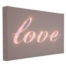 Leinwandbild Love Italic, Typografische Kunst