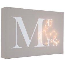 Leinwandbild Mr & Mrs, Typografische Kunst
