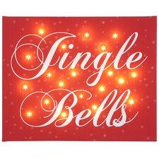 Leinwandbild Jingle Bells, typografische Kunst