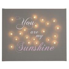 Leinwandbild You Are My Sunshine, Typografische Kunst