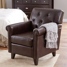Maude Tufted Leather Club Chair