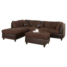 "Corporate 112"" Reversible Chaise Sectional Sofa"