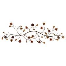 Flower Loaded Twig Wall Décor