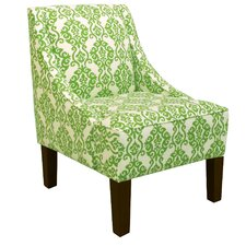 Roxie Swoop Arm Chair in Luminary Emerald