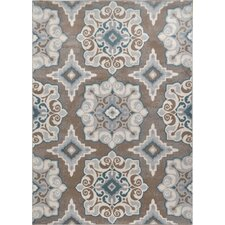Natural Taupe/Teal Area Rug