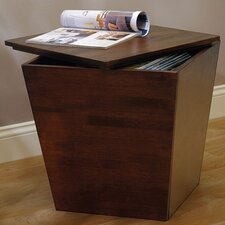 Farnham Walnut Storage Chairside Table