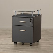 Onway 2 Drawer Mobile File Cabinet