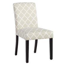 Parish Side Chair in Soft Gray Lattice