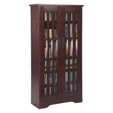 Jones Glass Door Tall Multimedia Storage Cabinet