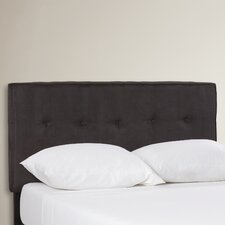 Woodview Tufted Premier Button Microfiber Suede Upholstered Headboard