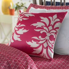 Eudora Double Damask Outdoor Throw Pillow