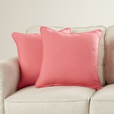 Weymouth Solid Throw Pillow (Set of 2)