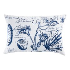Uruli Cucumber Cotton Throw Pillow