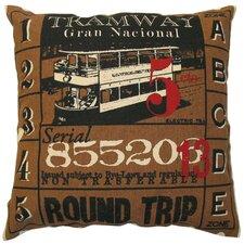 Ticket Cotton Throw Pillow