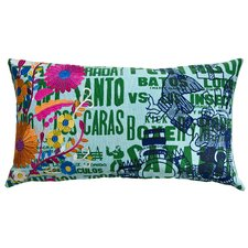 Mexico Eagle Print Cotton Lumbar Pillow