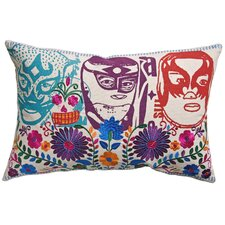 Mexico El Santo Print Cotton Lumbar Pillow
