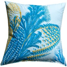 Water Cotton Throw Pillow