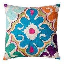 Totem Floral Cotton Throw Pillow