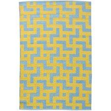 Persia Aqua/Mustard Area Rug