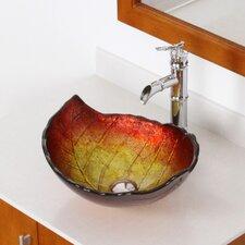 Hot Melted Summer Leaf Shaped Bowl Vessel Bathroom Sink