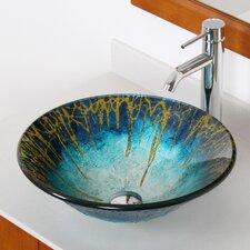 Enchantment Handcrafted Glass Fanfare Bowl Vessel Bathroom Sink