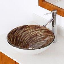 Whirlpool Hand Painted Bowl Vessel Bathroom Sink