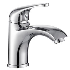 Single Handle Bathroom Faucet with Edged Spout