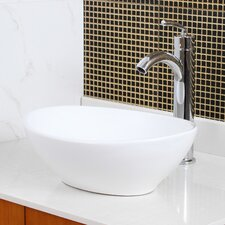Ceramic Boat-Shaped Bathroom Sink