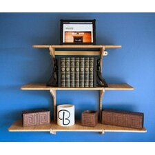 Bamboo Floating Triple Shelf